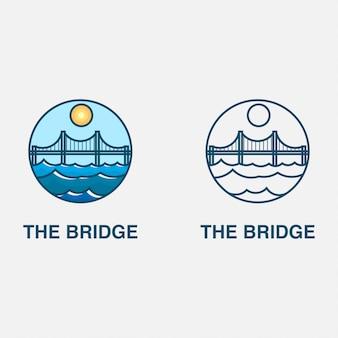 Logo met brug en zee