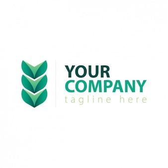 Logo met groene bladeren abstracte