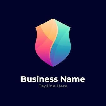 Logo met kleurverloop schild