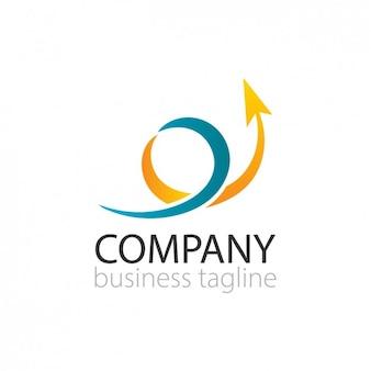 Logo met krullend pijl