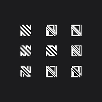 Logo met letter n collectie