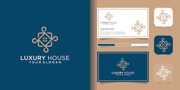 Logo modern huis voor bouw, huis, onroerend goed, gebouw, onroerend goed. minimaal geweldig trendy professioneel logo ontwerpsjabloon en visitekaartje ontwerp