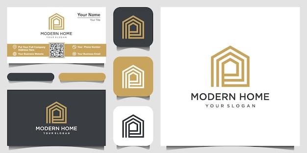 Logo moderne huis vector voor bouw huis onroerend goed gebouw eigendom