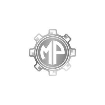 Logo mp gear vector