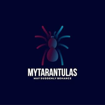Logo my tarantulas gradient kleurrijke stijl.