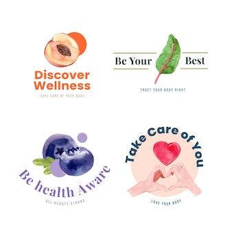 Logo of pictogram met conceptontwerp van de wereld geestelijke gezondheid dag