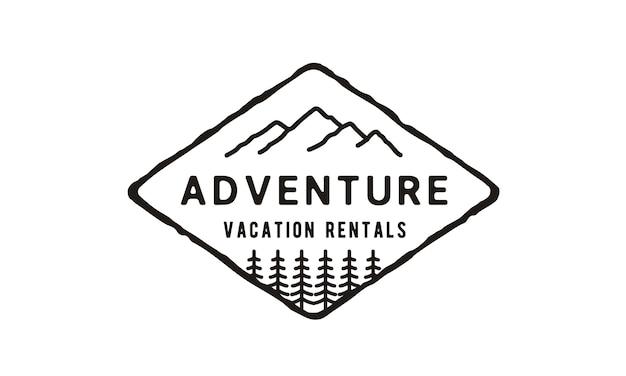 Logo ontwerp berg- / reis- / avonturen hipster