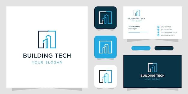 Logo-ontwerp bouwen in lijntekeningen