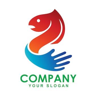 Logo ontwerp illustratie vis