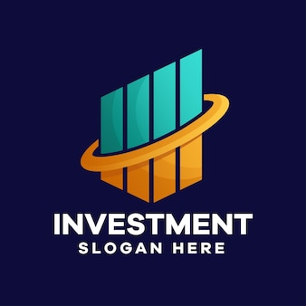 Logo-ontwerp met bedrijfsinvesteringsgradiënt