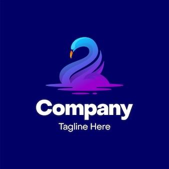 Logo ontwerp met dierenzwaan