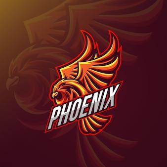 Logo-ontwerp met pheonix