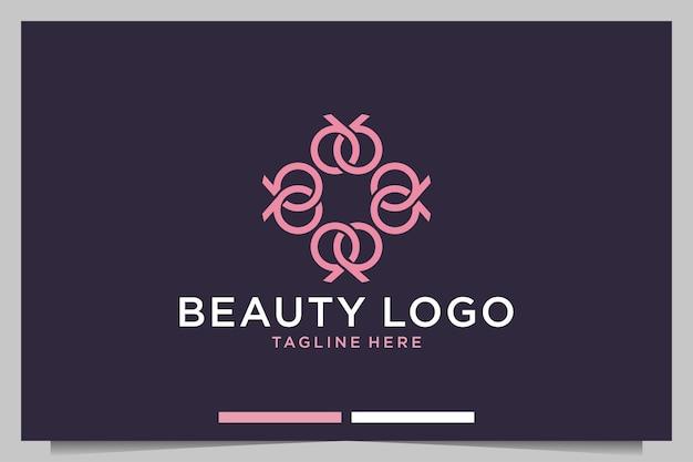Logo ontwerp met schoonheidsgeometrie