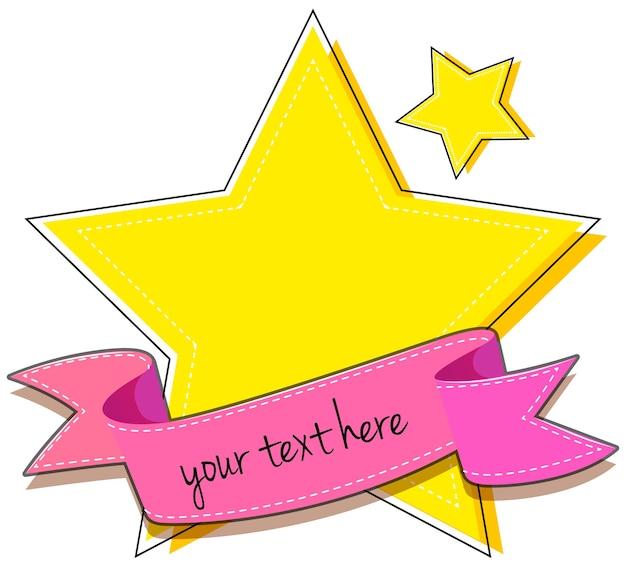 Logo-ontwerp met ster en lint