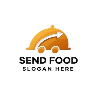 Logo-ontwerp met voedselgradiënt verzenden