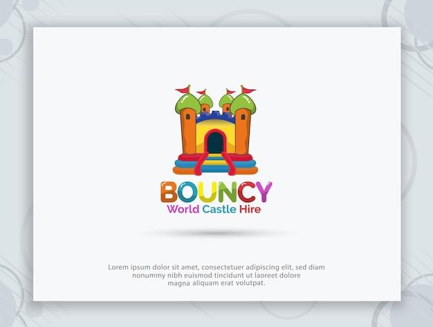 Logo ontwerp springkasteel huren