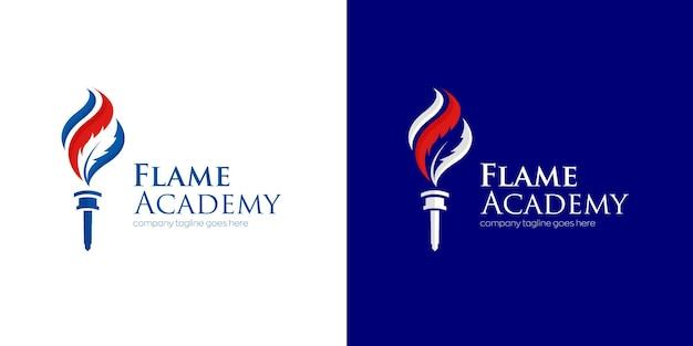 Logo ontwerp van de onderwijsacademie