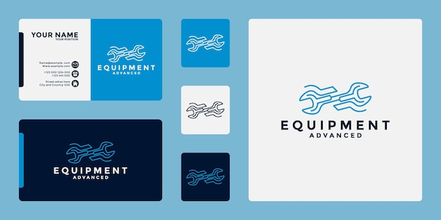 Logo-ontwerp voor apparatuurmonteur voor uw werkplaats- en ontwikkelingsapparatuur