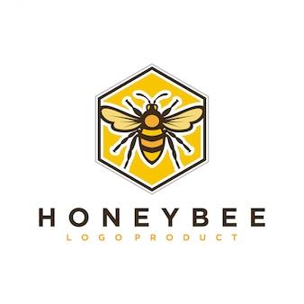 Logo-ontwerp voor honingproducten of honingbijkwekerijen