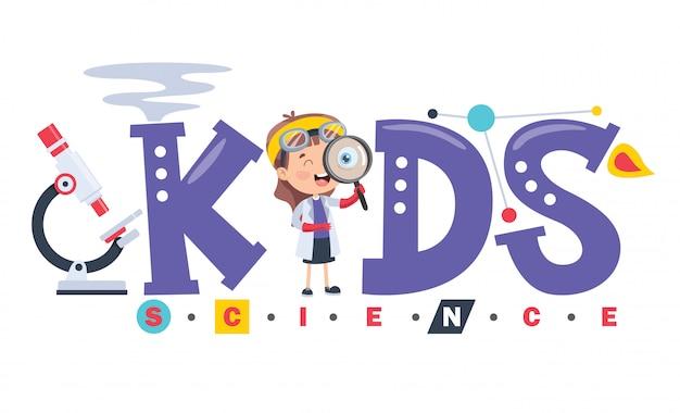 Logo ontwerp voor kinderen wetenschap