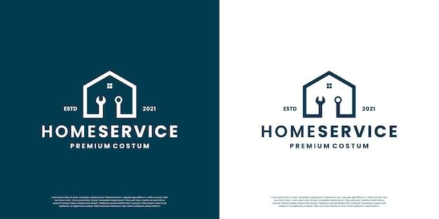 Logo-ontwerp voor thuisservice voor werkplaats, monteur