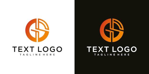 Logo-ontwerpinspiratie voor bedrijven uit de beginletters van het gs-logopictogram