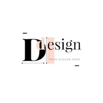 Logo ontwerpsjabloon met tijdelijke aanduiding voor slogan