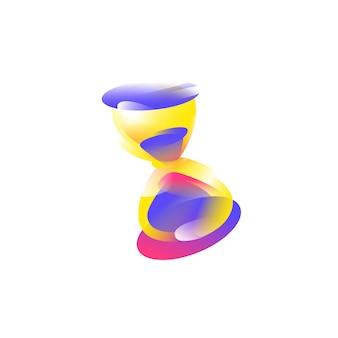 Logo, pictogram zandloper