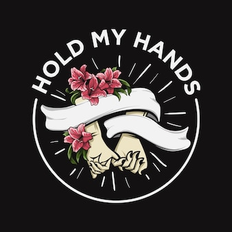 Logo pink hand in hand
