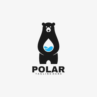 Logo polar negatieve ruimtestijl