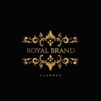 Logo premium luxe met golden