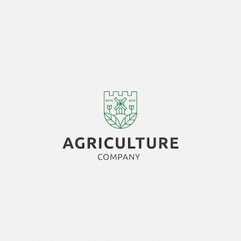 Logo premium met landbouw
