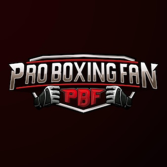 Logo pro boxing sport embleem