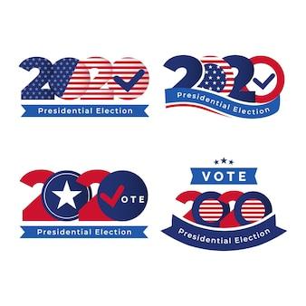 Logo's van de amerikaanse presidentsverkiezingen in 2020