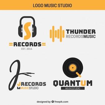 Logo's van de moderne muziek studio