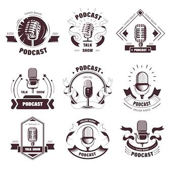 Logo's van talkshows en podcasts