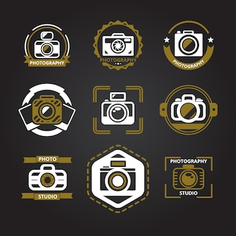 Logo's voor fotografen ingesteld.