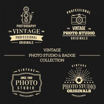 Logo's voor fotografie studio vintage stijl