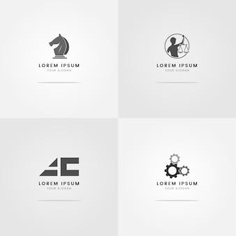 Logo's voor grijswaarden van advocaten