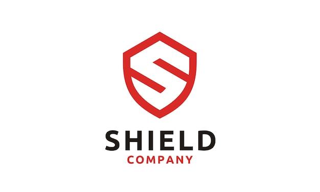 Logo shield / secure / safe met initial s