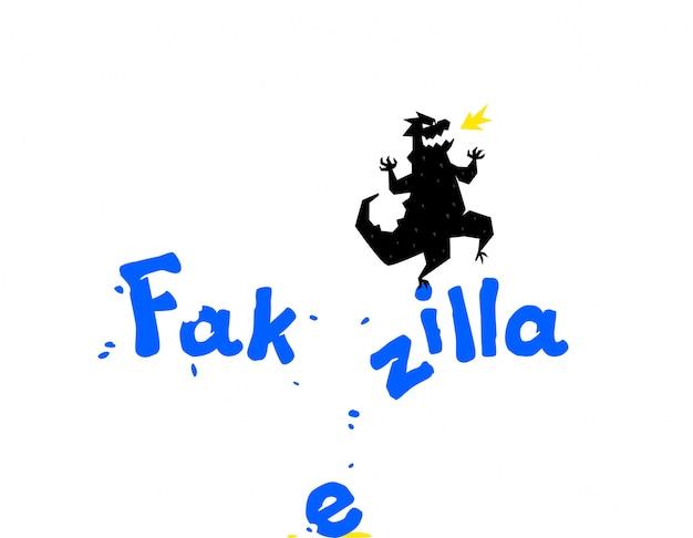 Logo sjabloon, draak illustratie.