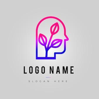 Logo sjabloon met kleurovergang