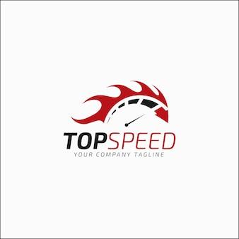 Logo sjabloon met topsnelheid