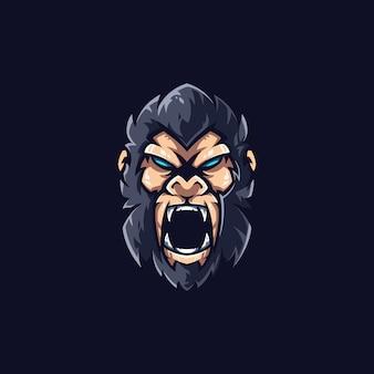 Logo sjabloon van gorilla e-sports team