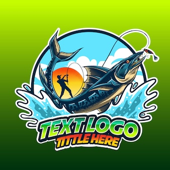 Logo sjabloon vissen