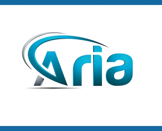 Logo sjabloon voor aria digital web