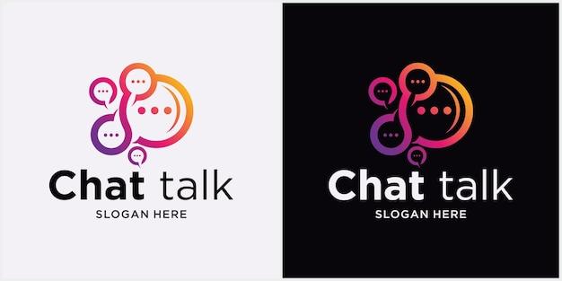 Logo spraakballonpictogram logo vectorillustratie chat communicatie logo design vector chat app