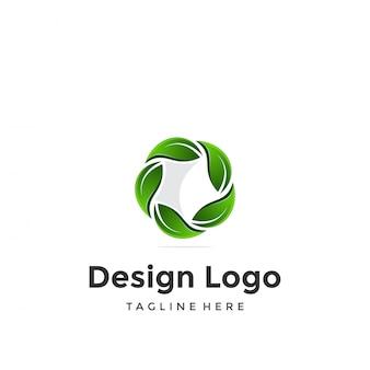 Logo, ster en blad