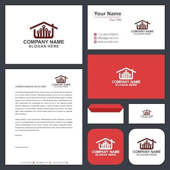 Logo tech huis en visitekaartje