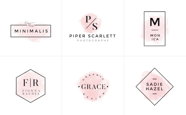 Logo templates-verzameling. logo set. minimalistische logotypes. premade logo-ontwerp